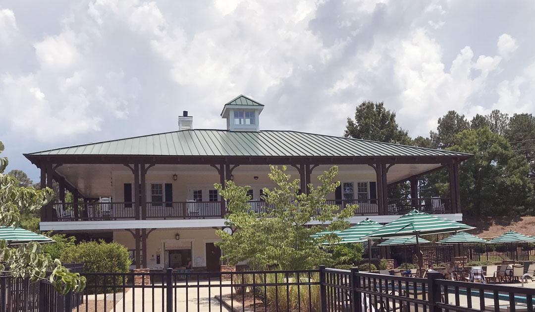 Weldon Ridge club house; neighborhood with pool in Cary; neighborhood with community pool in Cary