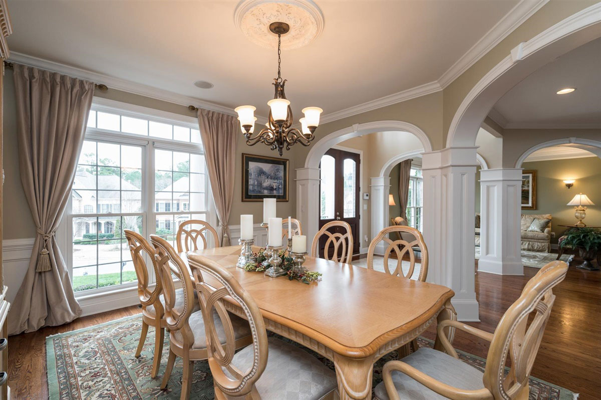 Dining room of home for sale in Cary NC