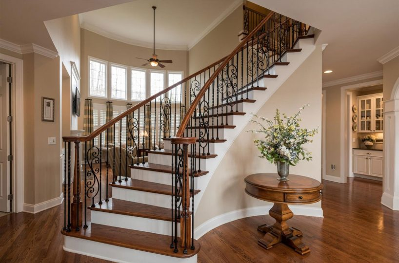 Grand foyer of home for sale in Cary NC