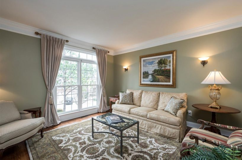 formal living room of home for sale in Cary NC